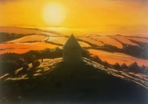 Hill Mednik sunset
